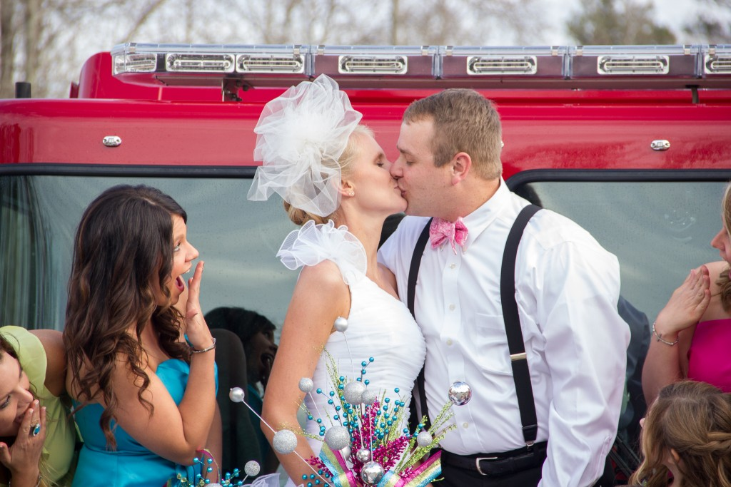 Wedding on Fire Truck